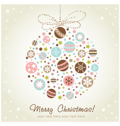 Stylized design Christmas decoration vector image