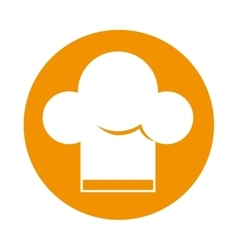 hat chef silhouette isolated icon vector image