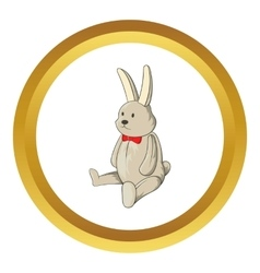 Toy bunny icon vector