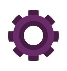 Purple silhouette gear wheel icon vector