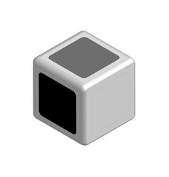 Dice concept black or white in 3d vector