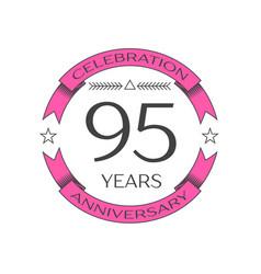 Ninety five years anniversary celebration logo vector