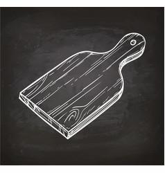 cutting board chalk sketch vector image