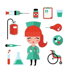 Nurse icons vector