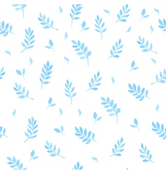 Beautiful watercolor seamless pattern with leaves vector