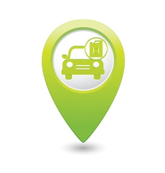 Cars canister green map pointer vector