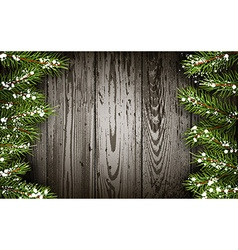 Wooden winter background vector