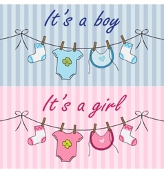 It is a boy and it is a girl announcement vector