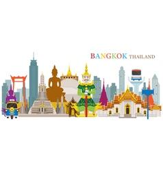 Bangkok Thailand and Landmarks vector image
