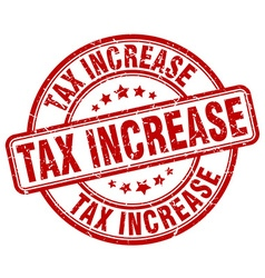 Tax increase stamp vector