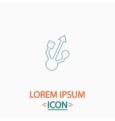 Usb computer symbol vector