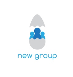 New group concept design with chicken egg vector