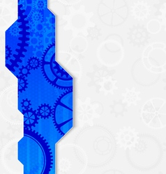abstract technology gear blue frame vector image