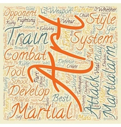 Are the Martial Arts still under development text vector image vector image