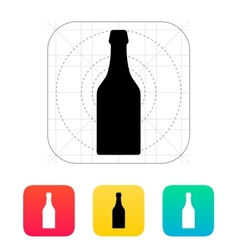 Beer bottle icon vector image