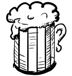 Beer in mug vector image vector image