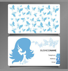business card hairdresser and beauty salon vector image