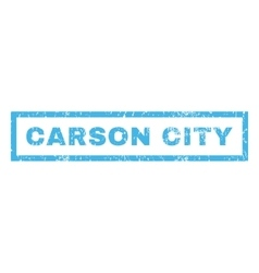 Carson City Rubber Stamp vector image vector image