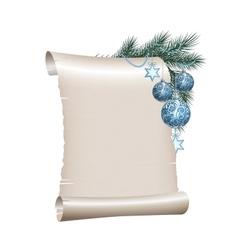 Christmas scroll vector image