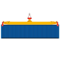 Container on crane vector