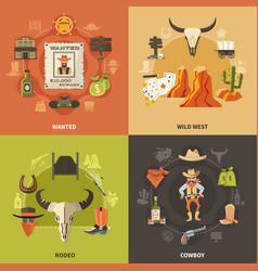 Cowboy design concept vector
