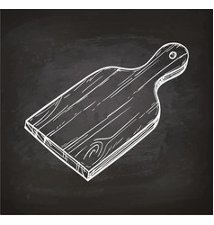 Cutting board chalk sketch vector