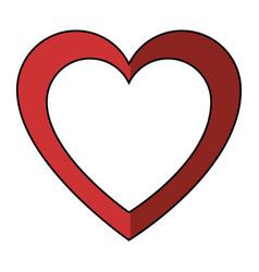 decorative heart symbol vector image