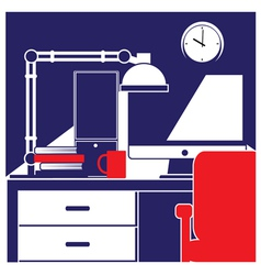 desktop workstation vector image