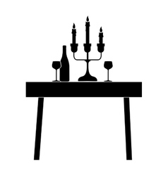 Dining table icon image vector