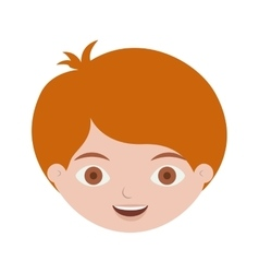 Front face redhead kid hairstyle vector