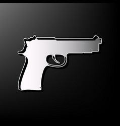 Gun sign gray 3d printed vector