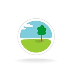 Landscape design logo template vector