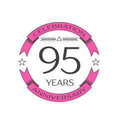 Ninety five years anniversary celebration logo vector