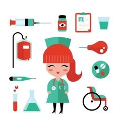 Nurse icons vector image vector image