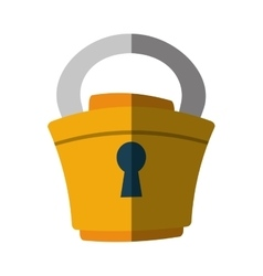 Padlock lock security money flat icon vector