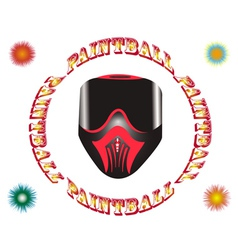 paintball mask vector image vector image