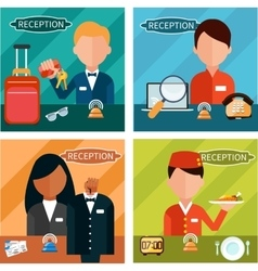 Reception characters vector