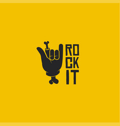 Rock it logo rock sign logo vector