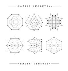sacred geometry signs alchemy religion vector image vector image