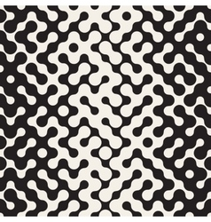 Seamless black and white hexagonal lines vector