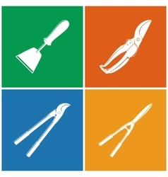 Set of colored agricultural icons vector