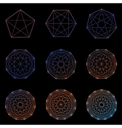 Set of geometric shapes vector