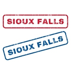 Sioux falls rubber stamps vector