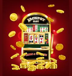 Slot machine poster vector