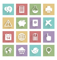 soft media icons set 3 vector image vector image