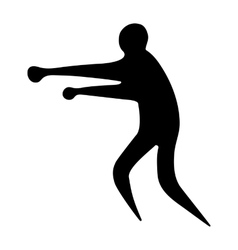 Sportsman man boxer on a white background vector