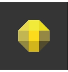 T Letter the form of abstraction yellow vector image vector image