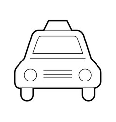 Taxi service isolated icon vector