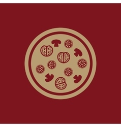 The pizza icon Fast food and baking symbol Flat vector image