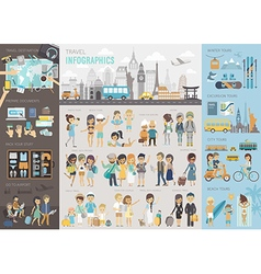 Travel infographic set with charts and other vector
